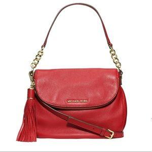Michael Kors Bedford tassel leather purse red